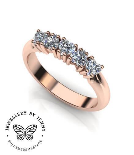 förlovningsring hjärtslipaddiamant
