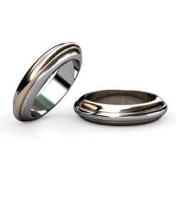 tvåfärgade förlovningsringar