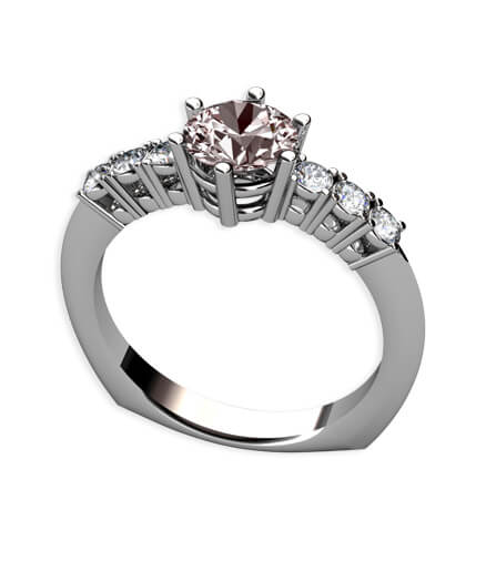rosa morganit och diamantring