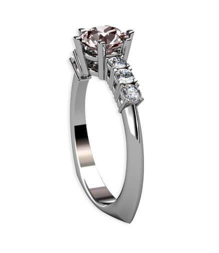 diamantring vitguld