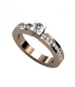 förlovningsring rödguld diamanter