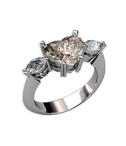 förlovningsring hjärta