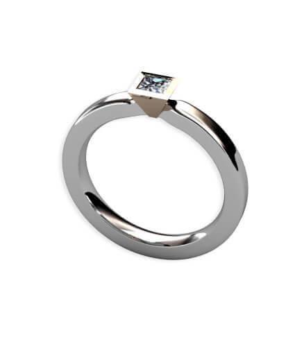 förlovningsring prinsesslipad diamant