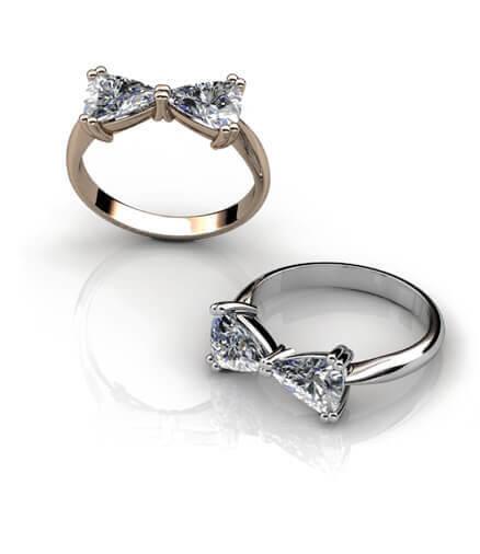förlovningsring rosett