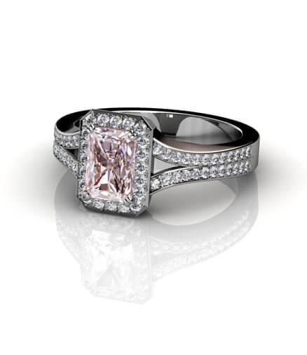 rosa morganit diamanter