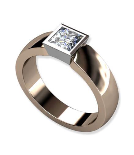 tvåfärgad ring