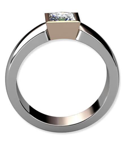 tvåfärgad förlovningsring