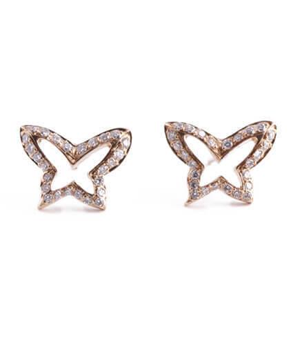 fjärilar örhängen diamanter
