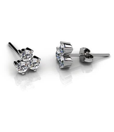 Diamantörhängen briljantslipade