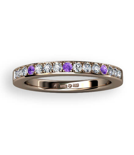 alliansringar lila diamanter