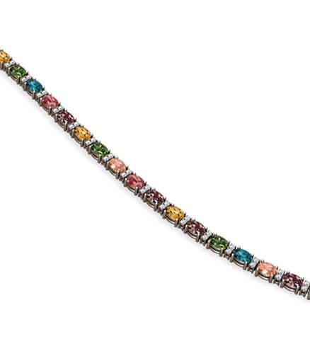armband färgstenar