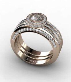 diamantringar roséguld