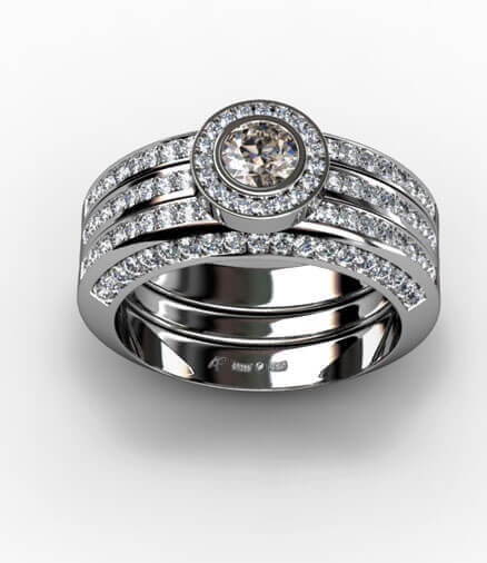 diamantiring förlovningsring vigselring