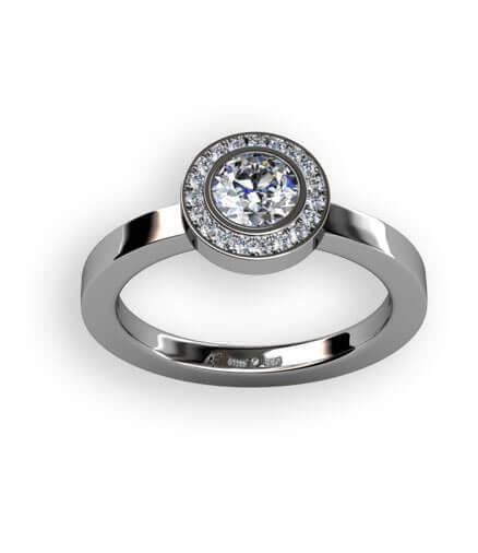 diamantring vitguldsring