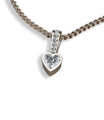 hjärtslipad diamant