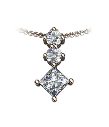 Hängsmycke diamanter