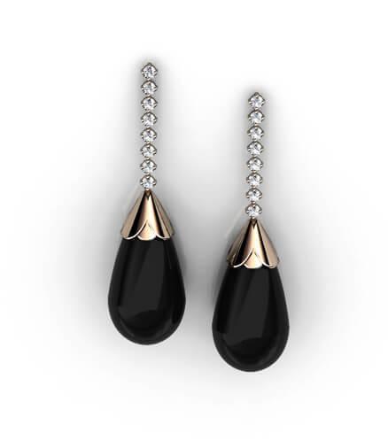 diamant örhängen