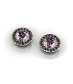 örhängen svarta diamanter rosa
