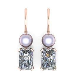 örhängen pärlor diamanter