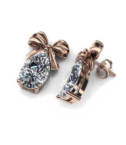 diamantörhängen rosetter