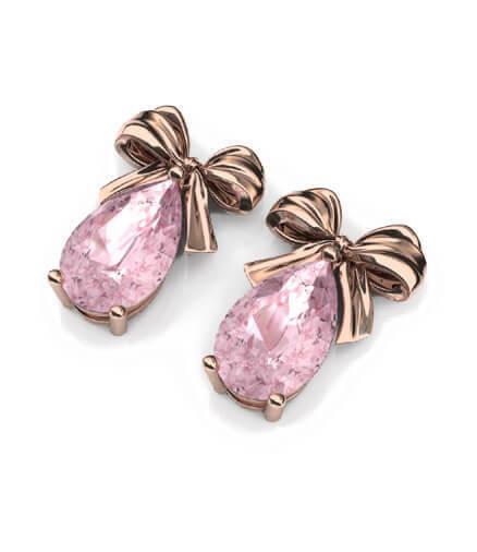 örhängen rosa rosetter