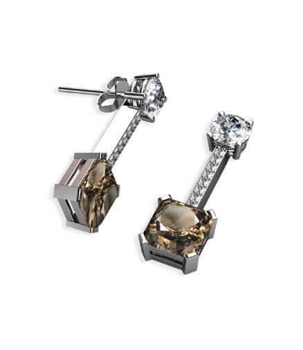 diamantörhängen med påhängen