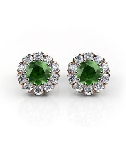 diamantörhängen grön peridot