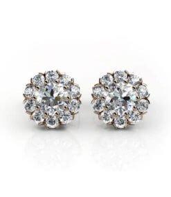 diamantörhängen roséguld