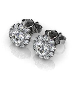 diamantörhängen vitguld