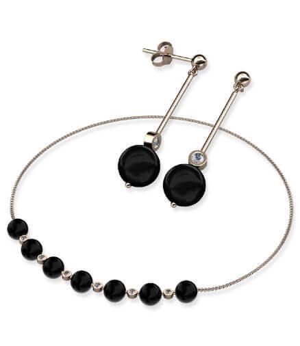 örhängen och halsband