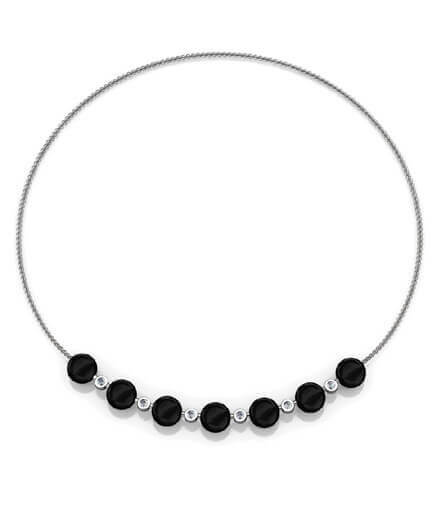 halsband med svart onyx