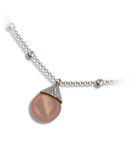 hängsmycke pärla och diamanter