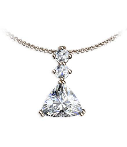 hängsmycke med diamanter i roséguld