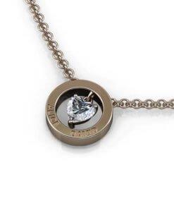 hängsmycke hjärtslipad diamant