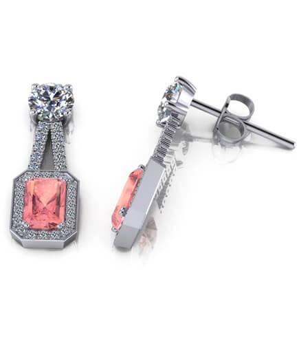 diamanter och rosa turmaliner