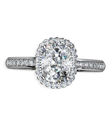 diamantring cushionslipad diamant