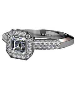 Diamantring i art deco stil