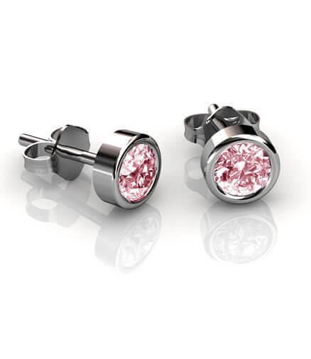 örhängen rosa safirer