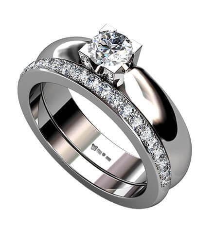 Förlovningsring och vigselring
