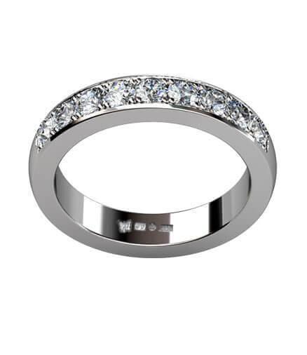 alliansring med briljantslipade diamanter