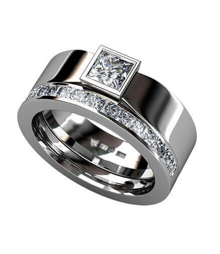 vigselring och förlovningsring