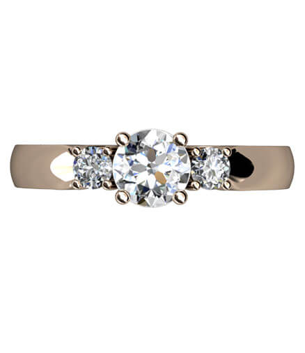 Trestensring briljantslipade diamanter