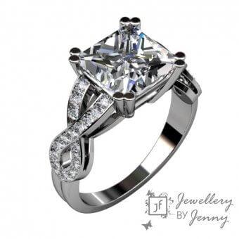 Stycktillverkade diamantringar