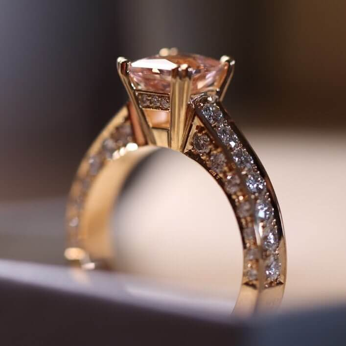 detaljer ring morganit
