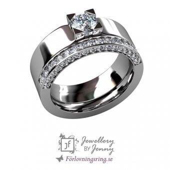 kombination bred och smal ring