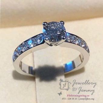 förlovningsringar vitguld diamanter