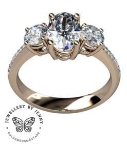 diamantring oval diamant