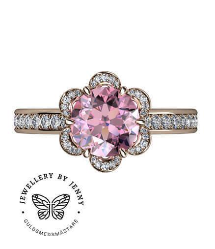 förlovningsring rosa