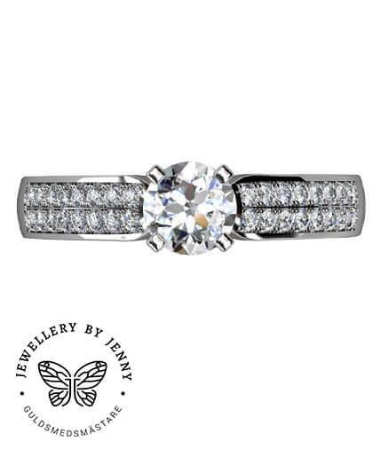 vigselring diamanter