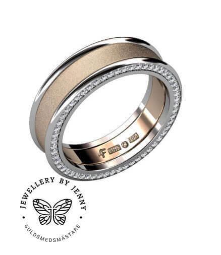 förlovningsring man med diamanter